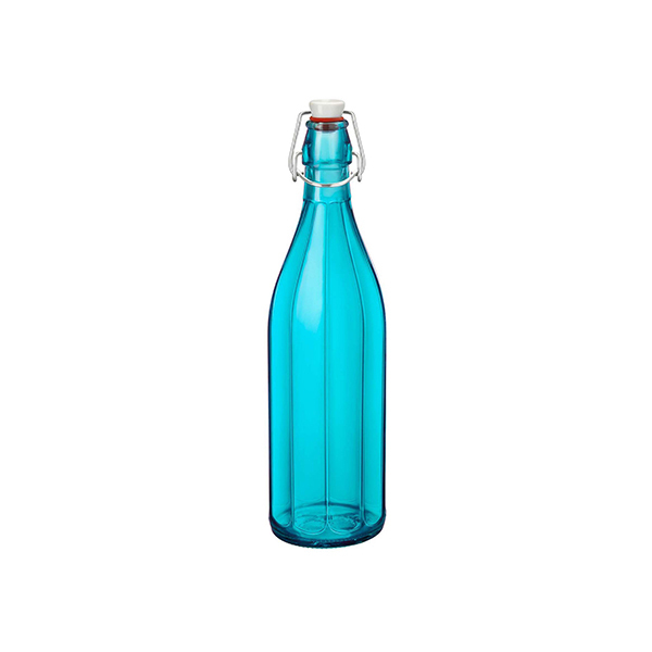 Bormioli Rocco Oxford Bottle Red With Top - 1.0Lt   Tomkin