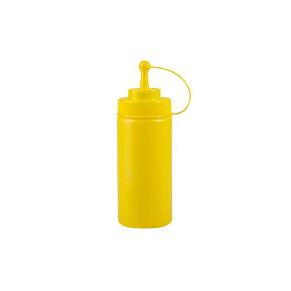 Squeeze Bottle - Wide Mouth With Cap 480ml Yellow  - 45116-Y