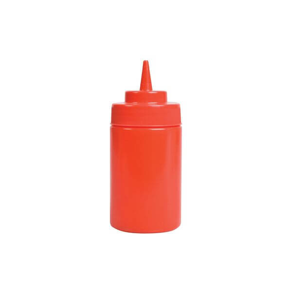 Squeeze Bottle - Wide Mouth 360ml Red  - 45281