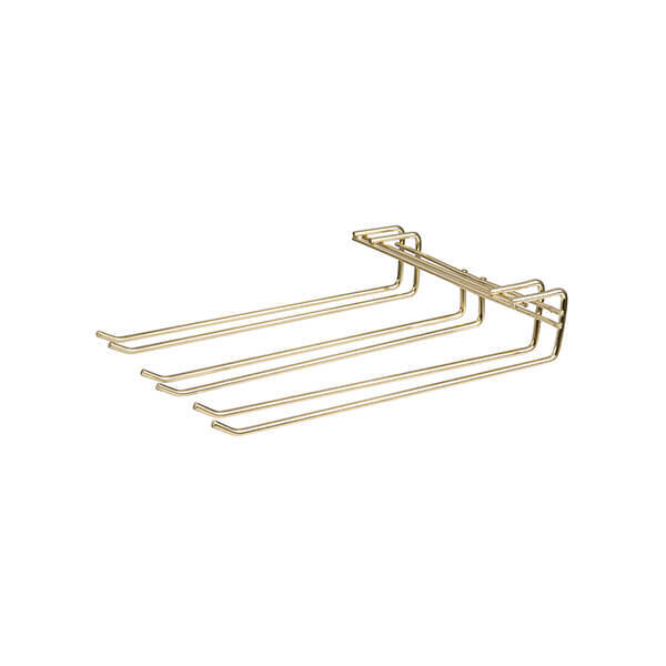 Triple Row Glass Hanger 270x220mm Brass Plated - 56183
