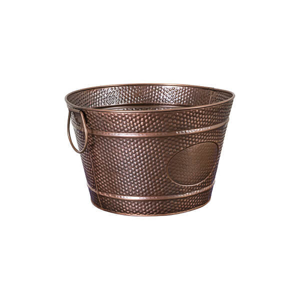 Moda Brooklyn Round Beverage Tub 350x220mm - Antique Copper With Pebble Pattern - 76645
