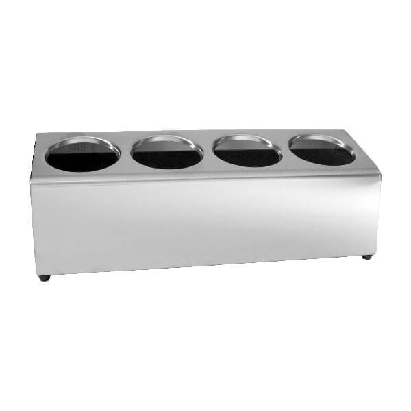 Moda Cutlery Holder - 4 - In - A - Row 175x490x180mm Stainless Steel - 84258