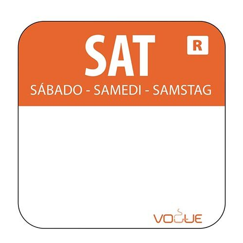 Day of the Week Label Saturday Roll (1000 Labels) - S151-SAT