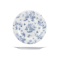 Churchill Vintage Prints Round Plate - Wide Rim Toile Prague 276mm - Box of 6 - 9971127