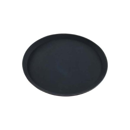 Chef Inox Round Tray  -  Plastic Non Slip 280mm Black