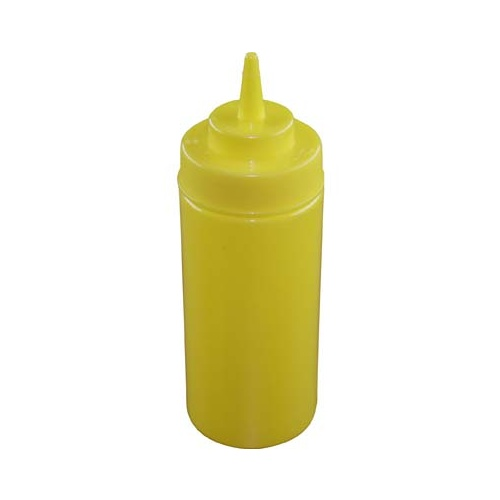 Chef Inox Squeeze Bottle  - Wide Mouth 480ml/16oz Yellow