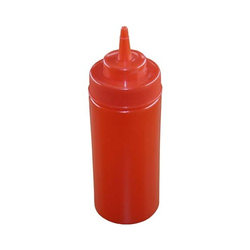 Chef Inox Squeeze Bottle  - Wide Mouth 480ml/16oz Red