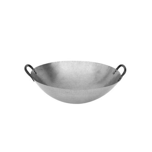 Iron Wok 2 Handles, Round Bottom 500mm