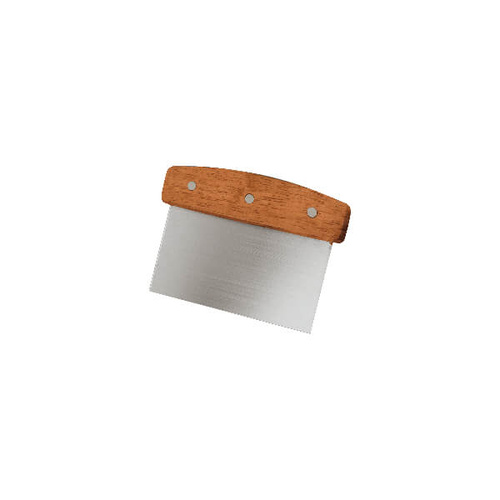 Dough Scraper 175x150x75mm - Stainless Steel Blade, Wood Handle