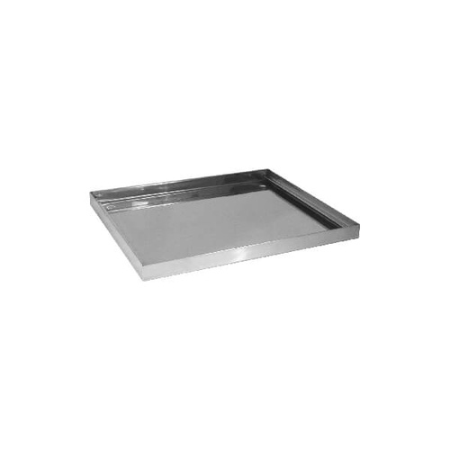 Drip Tray For Glass Baskets Square Stainless Steel 360x360x25mm