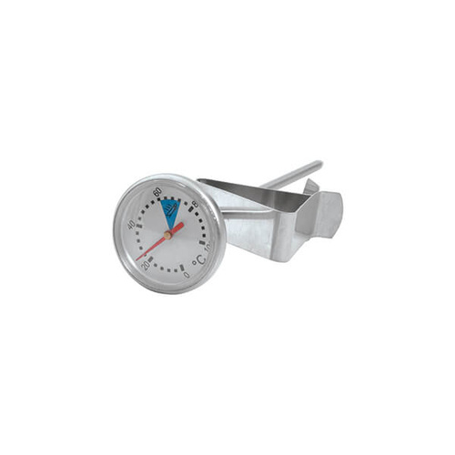 Milk Frothing Thermometer 200mm With Clip, - Stainless Steel 28mm Face Diameter