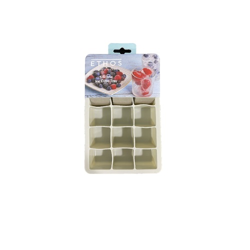 Silicone Ice Cube Tray - Light Grey