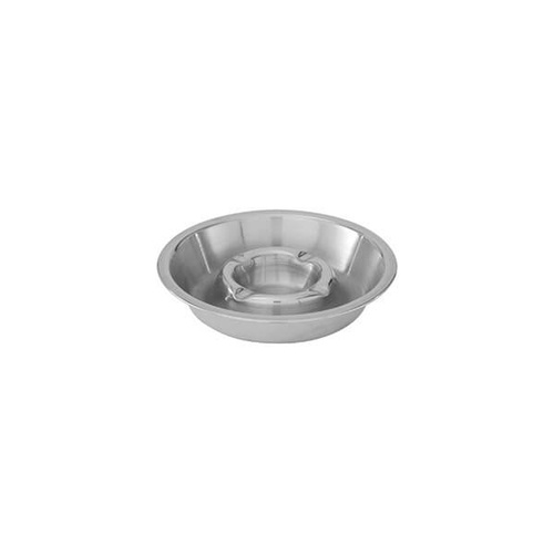 Double Well Ashtray 135mm Stainless Steel