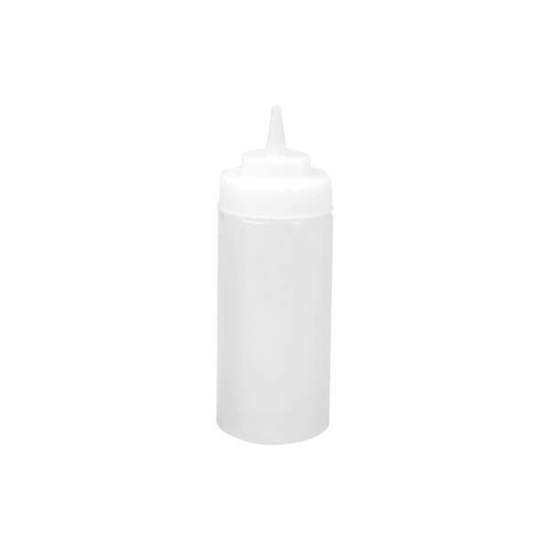 Squeeze Bottle - Wide Mouth 480ml Clear