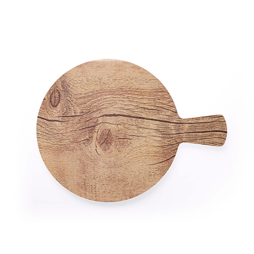 Chef Inox Round With Handle Wood Effect Melamine Oak 320mm