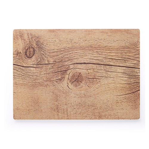 Chef Inox Rectangle Wood Effect Melamine Oak 360x255mm