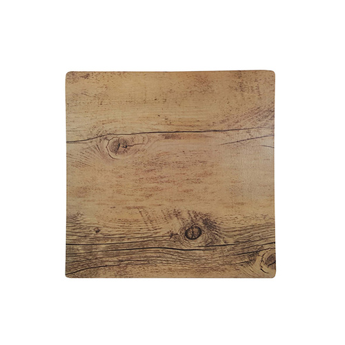 Chef Inox Square Wood Effect Melamine Oak 255x255mm
