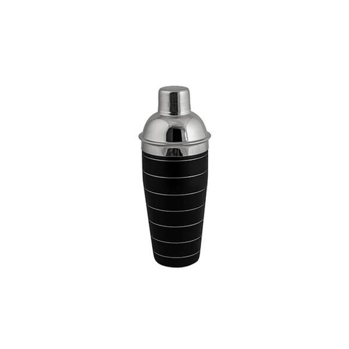 Cocktail Shaker - 3 Piece 750ml Black - 18/8 Stainless Steel