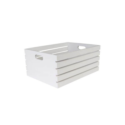 Moda Brooklyn Crate 410x300x180mm White Acacia Wood