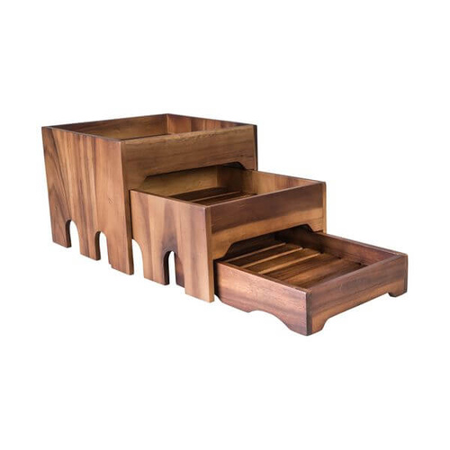 Moda Brooklyn 3 Tier Nesting Riser Set Acacia Wood