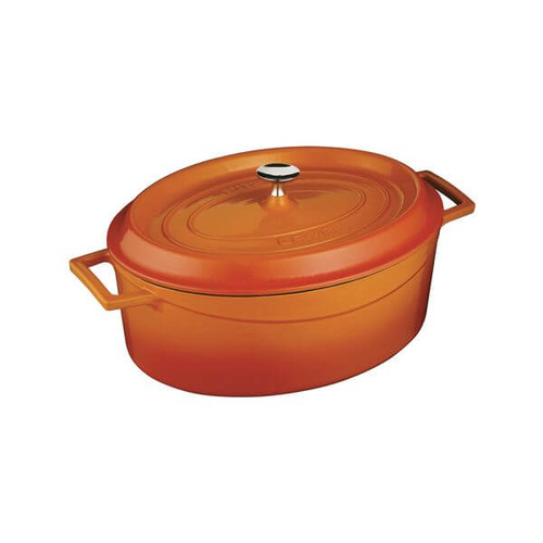 Lava Oval Casserole 330x265x120mm / 6.4Lt Orange