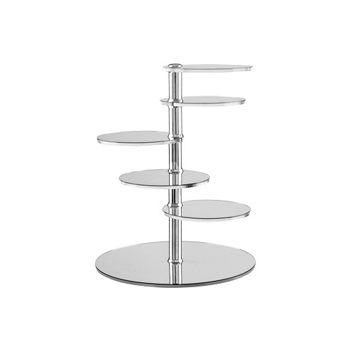 Zicco 6 Tier Display Stand - Mirror Finish