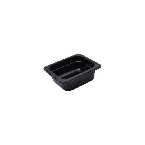 Polycarbonate Gastronorm Pan Black 1/6 Size 176x162x100mm / 1.53Lt