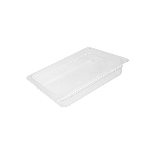 Polycarbonate Food Pan Clear 1/2 Size 325x265x150mm / 8.88Lt
