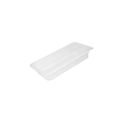 Polycarbonate Food Pan Clear 1/3 Size 325x175x200mm / 6.91Lt