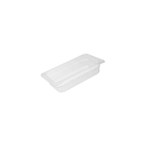 Polycarbonate Food Pan Clear 1/4 Size 265x162x65mm / 1.60Lt