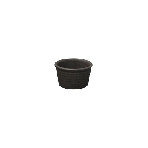 Zuma Charcoal Ramekin - Ribbed Charcoal 85x50mm - Box of 6