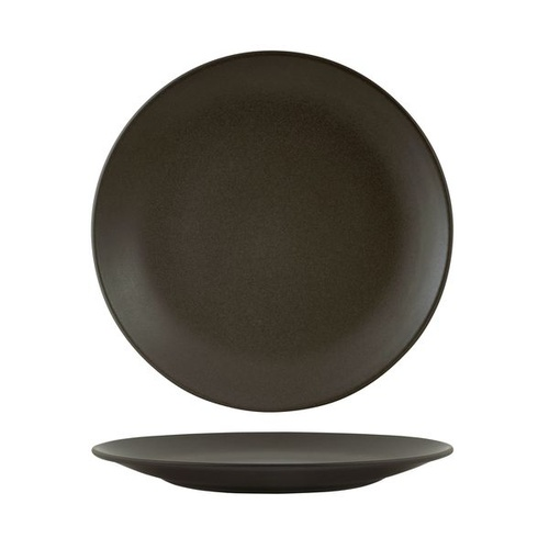 Zuma Charcoal Round Coupe Plate Charcoal 230mm - Box of 6