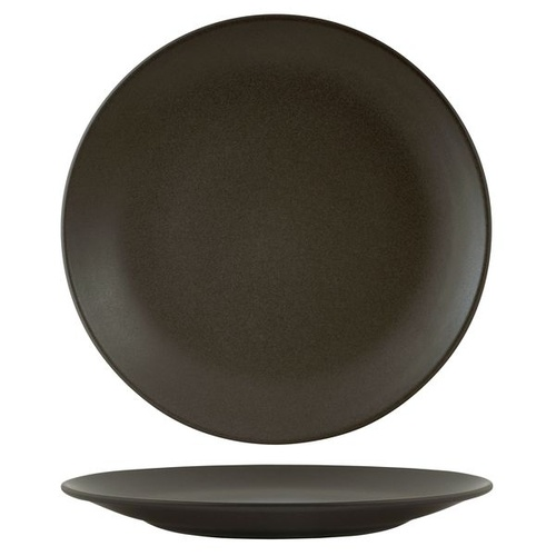 Zuma Charcoal Round Coupe Plate Charcoal 310mm - Box of 3