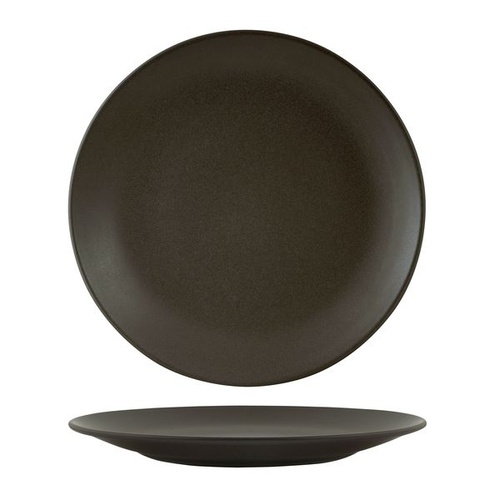 Zuma Charcoal Round Coupe Plate Charcoal 285mm - Box of 6