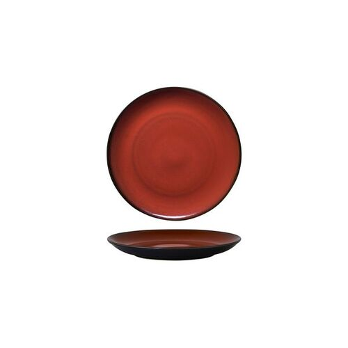 Luzerne Rustic Crimson Round Coupe Plate 180mm (Box of 6)