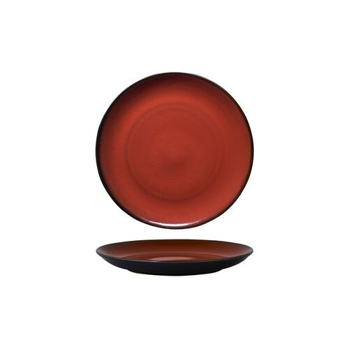 Luzerne Rustic Crimson Round Coupe Plate 215mm (Box of 6)