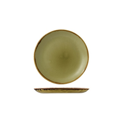 Dudson Harvest Green Round Plate Coupe 165mm (Box of 12)