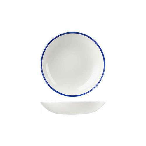 Churchill Retro Blue Round Coupe Bowl 182mm / 426ml - Box of