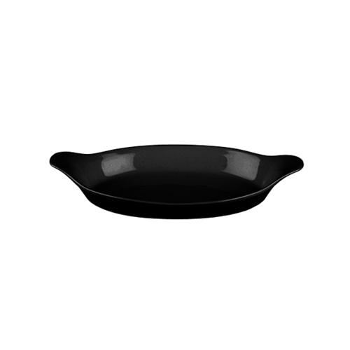 Churchill Cookware Oval Gratin Black 232x125mm / 380ml - Box of 6