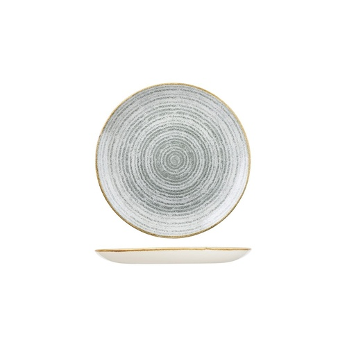 Studio Prints Homespun Round Coupe Plate Stone Grey 165mm - Box of 12