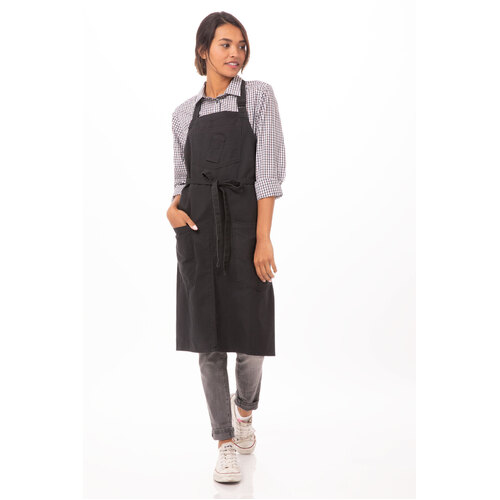 Chef Works Rockford Steel Grey Bib Apron - ABKV053-SGY