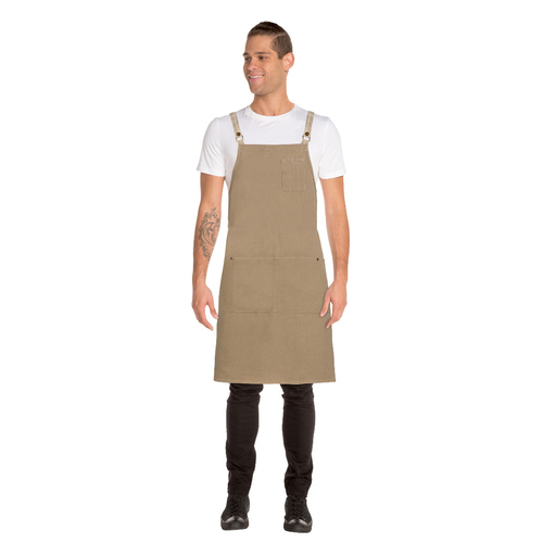Austin Natural Denim Cross Back Apron