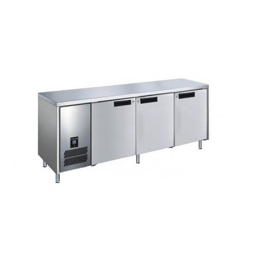 Glacian BCS72476 - 3 Door S/S Underbench Fridge