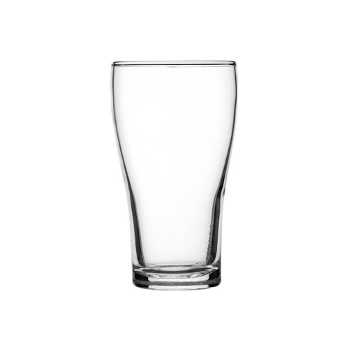 Crown  Glassware Crown tuff Conical Beer Certified, Nucleated & Fully Tempered 425ml (Box of 48)