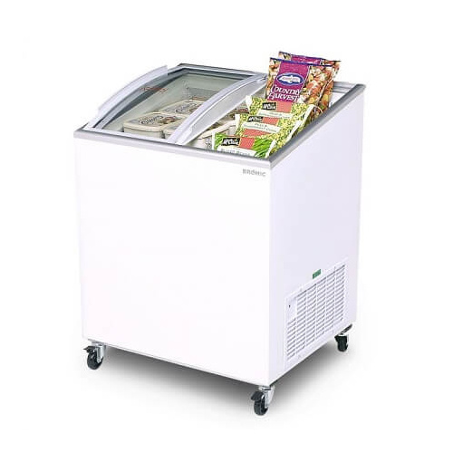 Bromic CF0200ATCG Angled Glass Top - 176L Chest Freezer