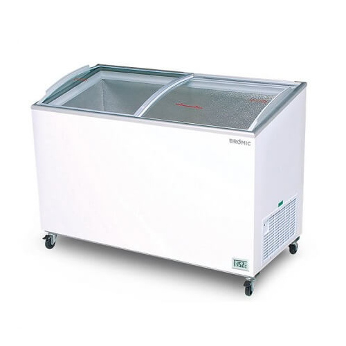 Bromic CF0400ATCG Angled Glass Top - 352L Chest Freezer