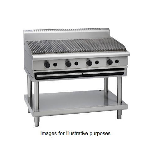 Waldorf CH8120G-CB - 1200mm Gas Chargrill with Cabinet Base