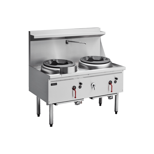 Cobra CW2H-CC - Gas Waterless Wok 2 Hole - Chimney