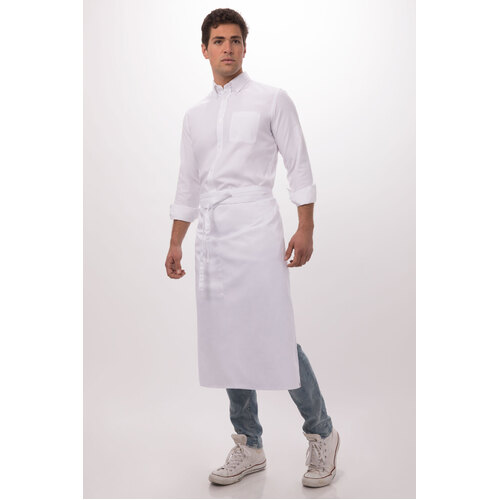Chef Works 3/4 White Apron