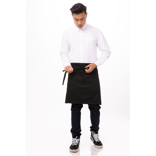 Chef Works Half Black Apron - F28-BLK